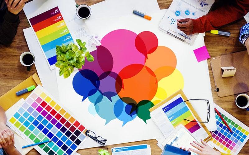 Printdesign Farben für Webseiten