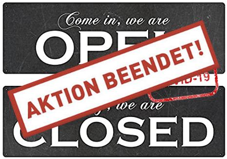 Webshop Corona open - closed