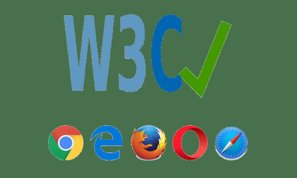 W3C Logo mit Browsersymbolen
