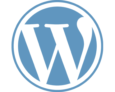 Webdesign WordPress Logo in blau